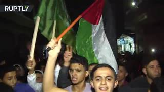 Gaza residents celebrate ceasefire with Israel - RUSSIATODAY