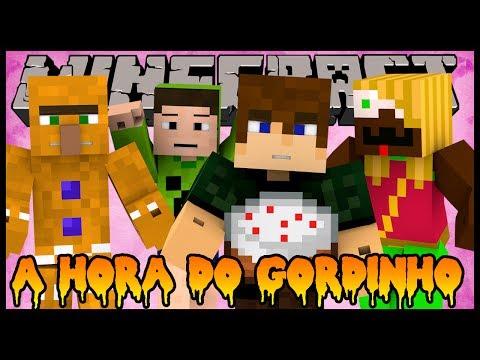 A Hora do Gordinho - Jogo da Comida ft. Spok, Malena e Salazar (Minecraft Mini-Games)