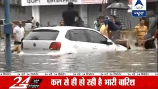 Heavy rains lash parts of Ahmedabad l trains effected - ABPNEWSTV