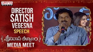 Director Vegesna Satish Speech @ Kalyanam Media Meet Live || Nithiin, Raashi Khanna - ADITYAMUSIC