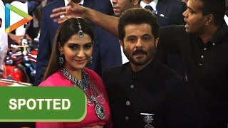 Evergreen Anil Kapoor & daughter Sonam Kapoor at Isha - Anand's grand Wedding Celebrations - HUNGAMA