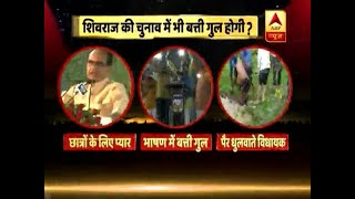 Huge embarrassment to MP CM Shivraj as power cut happens during his speech in rally - ABPNEWSTV