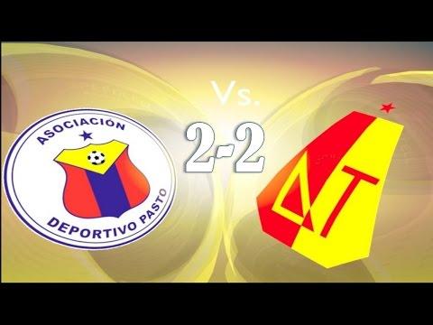 Goles Deportivo Pasto 2-2 Deportes Tolima Fecha 6 Liga Postobon 2014 -II