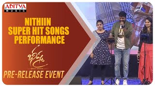 Nithiin Super Hit Songs Performance @ Bheeshma Pre Release Event | Nithiin, Rashmika - ADITYAMUSIC