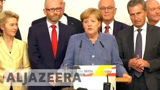 Angela Merkel on course for fourth term as Germany's chancellor - ALJAZEERAENGLISH