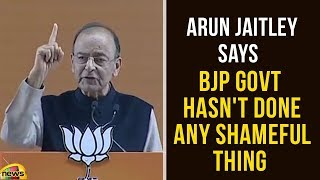 BJP Govt Hasn't Done Any Shameful thing Says Arun Jaitley | BJP National Convention | Mango News - MANGONEWS