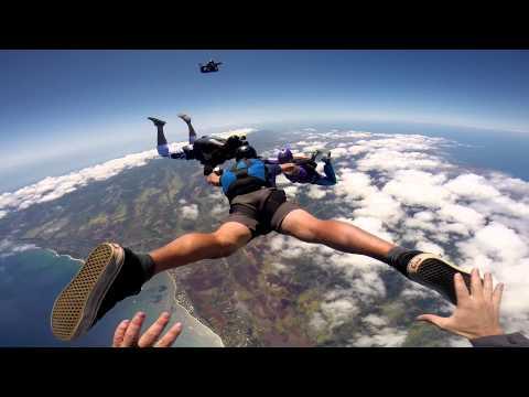 Skydiving in Paradise - August 10th 2014 - Hurricane Weekend