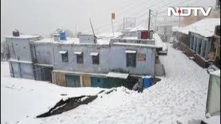 पहाड़ी इलाकों में बर्फबारी से गिरा पारा - NDTVINDIA