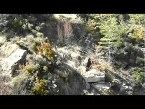 2012 06 Caza mayor. Gran jabali que cae con un único tiro.