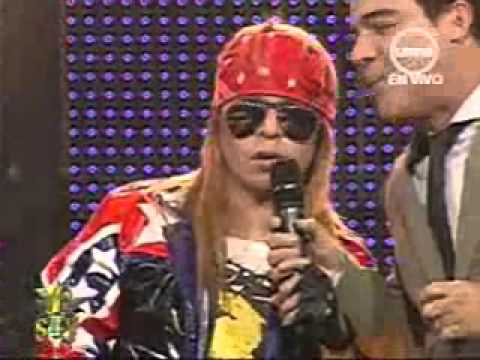 "YO SOY AXL ROSE "" WELCOME TO THE JUNGLE "" [08/08/12] COMPLETO. YO SOY PERU ."