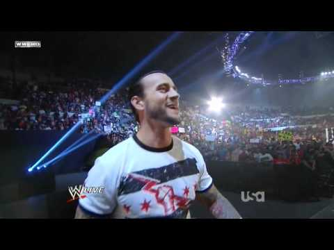 WWE Raw 7-25-11: CM Punk Returns and John Cena is new WWE Champion [HD] FULL