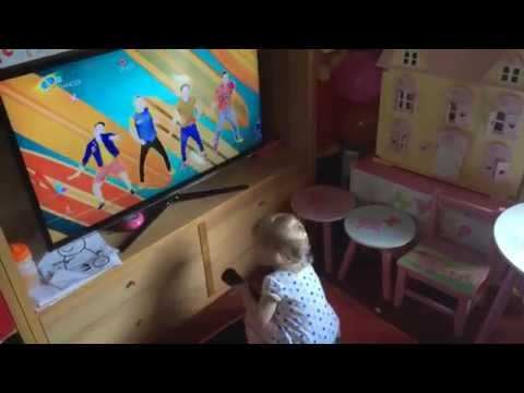 Toddler Lydia plays Just Dance