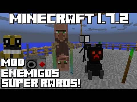 Minecraft 1.7.2 MOD ENEMIGOS SUPER RAROS!