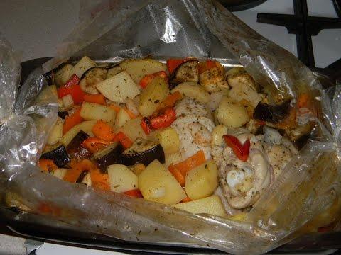 курица в духовке в пакете с овощами рецепт Барселона смотреть онлайн