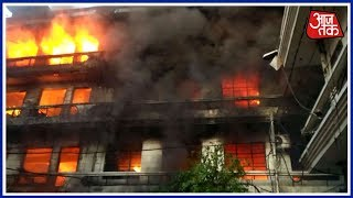 Building Catches Fire In Ludhiana, Leaves Several Injured - AAJTAKTV