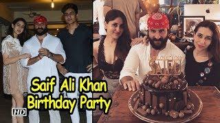 Inside Saif Ali Khan's Birthday Party - IANSLIVE