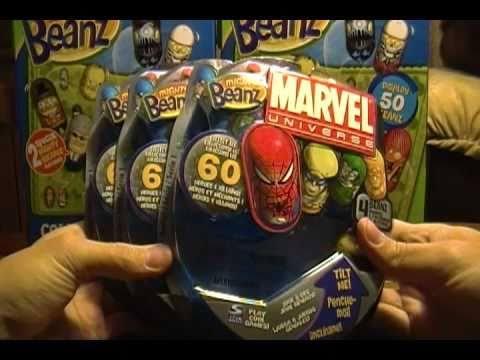 Opening 3 Packs of Marvel Universe Mighty Beanz -cD8OSt2LUqM