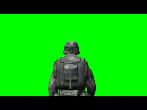 Soldier walk - COD - green screen effects