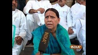 IRCTC Scam: CBI quizzes Rabri Devi for 45 minutes in Patna - INDIATV