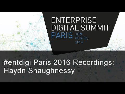 #EntDigi 2016: Haydn Shaughnessy - Rethinking the Business Model for the Economy of Platforms