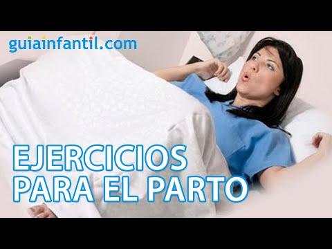 Ejercicio para practicar el pujo en el parto