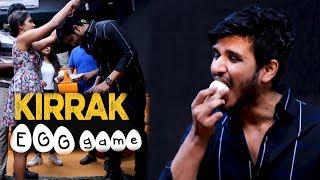గుడ్లుతో కొట్టుకున్న కిర్రాక్ పార్టీ టీమ్ | Nikhil Kirrak Party team Kirrak Egg game - IGTELUGU