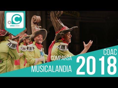Sesión de Preliminares, la agrupación Musicalandia actúa hoy en la modalidad de Comparsas.