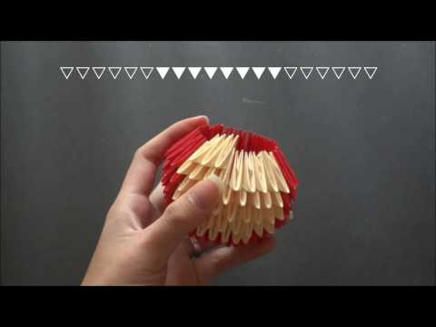 3D Origami Teddy Bear Tutorial (Medium)