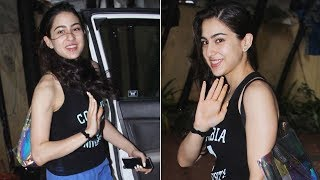 Sara Ali Khan is all smiles for the paparazzi post gym visit - TIMESOFINDIACHANNEL