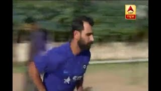 Mohammed Shami practices ahead of IPL 11 - ABPNEWSTV