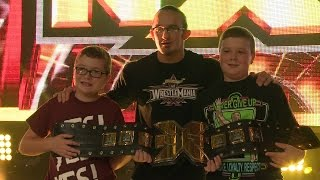 أطفال الاتحاد يشاركون أبطال NXT وتريبل أتش يومهم (فيديو) !!
