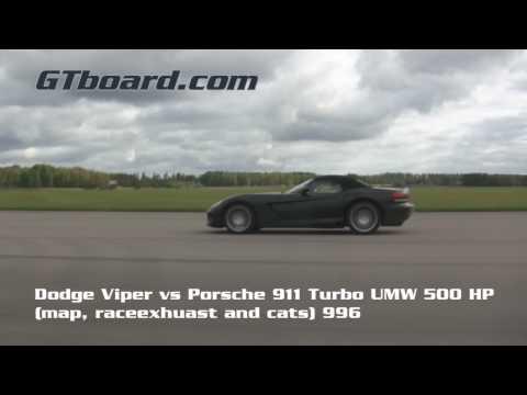 HD: Dodge Viper vs Porsche 911 Turbo 996 UMW Stage 2 500 HP = GTBoard.com