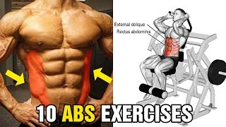 10 Exercises V-Cut Abs Workout For Ripped Obliques