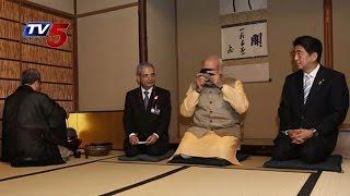 'Chaiwala' Modi   Modi's 'Chai Pe Charcha' With Shinzo Abe : TV5 News - TV5NEWSCHANNEL