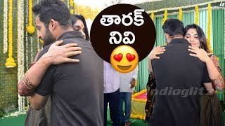 NTR and Nivetha Thomas at Kalyan Ram new movie launch || KV Guhan - IGTELUGU