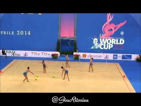 MEXICO -  QUALIFICATION 3 BALLS 2 RIBBONS - RG WC PESARO 2014