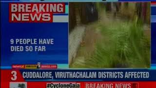 Cyclone Gaja: 9 Persons killed in cyclonic storm, 323 electric poles fallen down - NEWSXLIVE