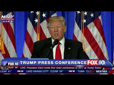 En su primera conferencia de prensa, desde que fue electo, Trump hizo callar a un periodista