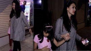 #BollywoodNews: ऐश्वर्या राय ने बेटी के साथ लिया कूल-कूल आईसक्रीम का मज़ा