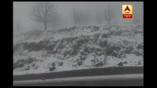 Fresh snowfall in Shimla's Khara Pathar - ABPNEWSTV