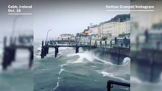 Video of Storm Ophelia in Ireland - WASHINGTONPOST