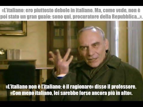 L'italiano è il ragionare, con meno italiano lei sarebbe forse ancora più in alto.