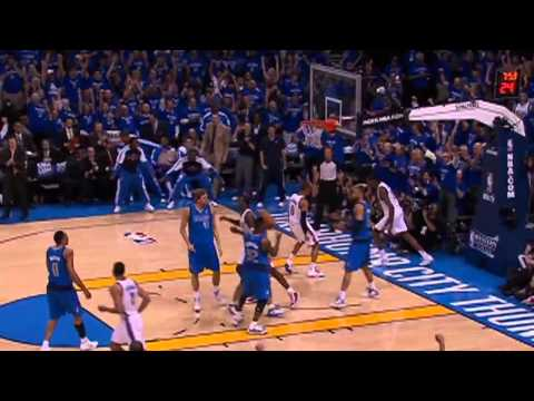 Dunk of the Night: Kevin Durant IMPRESSIVE One-Handed Dunk against the Mavs (Game 4, May 23, 2011)