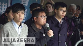 Hong Kong activists jailed over 2014 'Umbrella' protests - ALJAZEERAENGLISH