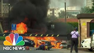 Heavy Gunfire Follows Explosion As Attack Launched On Upscale Complex In Nairobi | NBC News - NBCNEWS