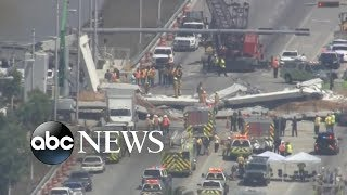 Several killed after pedestrian bridge at Florida International University collapses - ABCNEWS