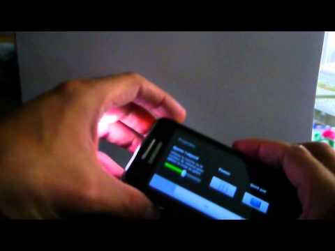Test Samsung Galaxy Beam : le premier smartphone avec vidéo projecteur !