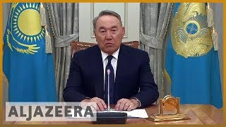🇰🇿 Kazakhstan's leader Nursultan Nazarbayev resigns | Al Jazeera English - ALJAZEERAENGLISH