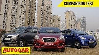 Datsun Go Vs Hyundai Eon Vs Maruti Wagon R | Comparison Test - Datsun Videos