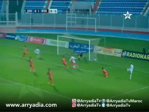 الدفاع الحسني الجديدي 1-1 النهضة البركانية هدف بلال المكري في الدقيقة 30.